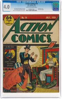 Action Comics #14 (DC, 1939) CGC VG 4.0 Cream to off-white pages