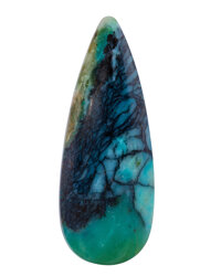 Opalized Wood Cabochon - 19.12 Cts. Java Indonesia 38.21 x 14.72 x 5.41 mm<