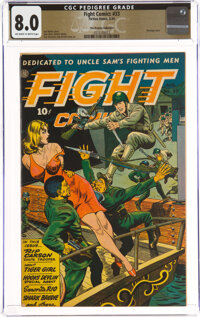 Fight Comics #33 The Promise Collection Pedigree (Fiction House, 1944) CGC VF 8.0 Off-white to white pages