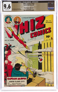 Whiz Comics #113 The Promise Collection Pedigree (Fawcett Publications, 1949) CGC NM+ 9.6 Off-white pages