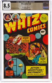 Whiz Comics #114 The Promise Collection Pedigree (Fawcett Publications, 1949) CGC VF+ 8.5 Off-white to white pages