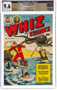 Whiz Comics #115 The Promise Collection Pedigree (Fawcett Publications, 1949) CGC NM+ 9.6 Off-white to white pages