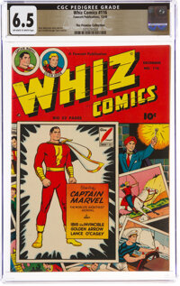 Whiz Comics #116 The Promise Collection Pedigree (Fawcett Publications, 1949) CGC FN+ 6.5 Off-white to white pages