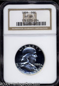 Proof Franklin Half Dollars: , 1959 50C PR69 NGC. Fully struck and seemingly free of ...