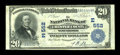 National Bank Notes:Pennsylvania, West Chester, PA - $20 1902 Plain Back Fr. 650 The NB of Chester County Ch. # (E)552. ...