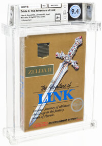 Zelda II: The Adventure of Link - Wata 9.4 A+ Sealed [Rev-A, Round SOQ, Early Production], NES Nintendo 1988 USA