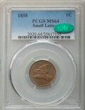 1858 1C Small Letters MS64 PCGS. CAC. PCGS Population: (354/126). NGC Census: (283/88). CDN: $1,400 Whsle. Bid for NGC/P...