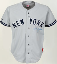 1991 Mickey Mantle Fantasy Camp Game Worn & Signed New York Yankees Jersey