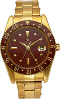 Timepieces:Wristwatch, Rolex, An Important And Very Rare Yellow Gold GMT-Master, Bakelite Bezel, Ref. 6542, circa 1959. ...