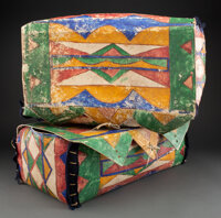 A Pair of Sioux Painted Parfleche Trunks... (Total: 2)