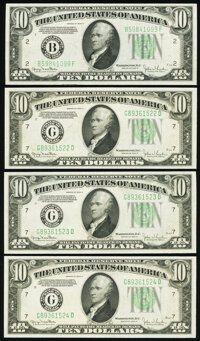 Fr. 2009-B; G (3) $10 1934D Federal Reserve Notes. Choice Crisp Uncirculated. ... (Total: 4 notes)