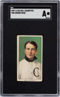 Baseball Cards:Singles (Pre-1930), Possibly Unique 1909-11 T206 Old Mill-Brown George Paige S...