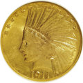 Indian Eagles, 1911 $10 AU55 NGC. NGC Census: (55/5667). PCGS Population(214/4476). Mintage: 505,595. Numismedia Wsl. Price for NGC/PCGS...