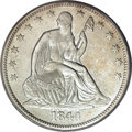 Seated Half Dollars, 1844-O 50C Doubled Date AU55 PCGS....