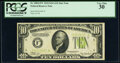 Fr. 2004-F* $10 1934 Light Green Seal Federal Reserve Star Note. PCGS Very Fine 30