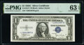 Fr. 1612* $1 1935C Silver Certificate Star. PMG Choice Uncirculated 63 EPQ