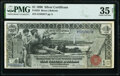 Large Size:Silver Certificates, Fr. 225 $1 1896 Silver Certificate PMG Choice Very Fine 35 Net.. ...