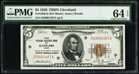 Fr. 1850-D $5 1929 Federal Reserve Bank Note. PMG Choice Uncirculated 64 EPQ