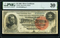 Large Size:Silver Certificates, Fr. 242 $2 1886 Silver Certificate PMG Very Fine 30.. ...