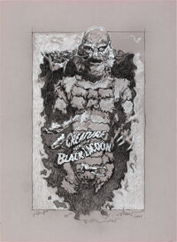 Creature from the Black Lagoon by Drew Struzan (2001). Near Mint. Signed Original Concept Artwork in Pencil on Paper