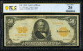 Fr. 1199 $50 1913 Gold Certificate PCGS Banknote Very Fine 20
