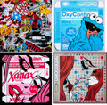 Prints & Multiples, Ben Frost (b. 1975). OxyCookie, Xanax, Word Games, and Know Your Product (set of 4), 2020. ...