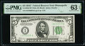 Fr. 1959-I $5 1934C Wide Federal Reserve Note. PMG Choice Uncirculated 63 EPQ