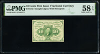Fr. 1242 10¢ First Issue PMG Choice About Unc 58 EPQ