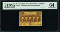 Fr. 1279 25¢ First Issue PMG Choice Uncirculated 64