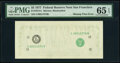 Missing Face Printing Error Fr. 1974-L $5 1977 Federal Reserve Note. PMG Gem Uncirculated 65 EPQ