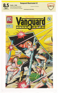 Vanguard Illustrated #2 Verified Signature: Dave Stevens (Pacific Comics, 1984) CBCS VF+ 8.5 White pages