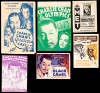 """Charlie Chan's Greatest Case & Other Lot (Fox, 1933). Folded, Fine/Very Fine. Heralds (6) (Multiple Pages, 4.5""""..."""
