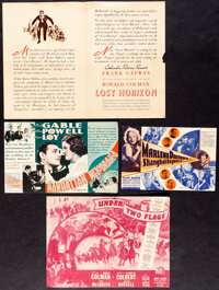 """Shanghai Express & Other Lot (Paramount, 1932). Folded, Fine+. Heralds (4) (Various Pages, 4.5""""-11""""). Dram..."""