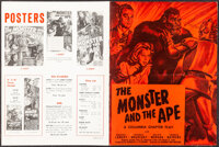 """The Monster and the Ape (Columbia, 1945). Very Fine. Pressbook (12 Pages, 10.5"""" X 14""""). Serial"""