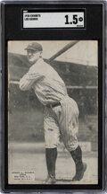 Baseball Cards:Singles (Pre-1930), 1925 Exhibits Lou Gehrig Rookie SGC Fair 1.5. For ...