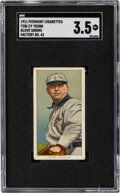 Baseball Cards:Singles (Pre-1930), 1909-11 T206 Piedmont 350-460/42 Cy Young (Glove Shows) SG...