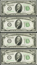 Fr. 2006-F $10 1934A Federal Reserve Notes. Seven Examples. Choice Crisp Uncirculated. ... (Total: 7 notes)