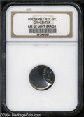 Errors: , Undated Clad Roosevelt Dime 10C --Off-Center--MS65 NGC. ...