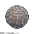 1652 6PENCE Pine Tree Sixpence AU53 PCGS. Noe-33, Crosby 1-A, R.3. 30.1 grains. A bold lavender-brown example with pleas...