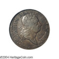 "1723 1/2P Hibernia Halfpenny--Double Struck, Second Strike 10% Off Center--VF35 NGC. Breen-160, ""Rare."" There..."