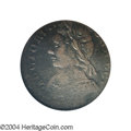 Colonials: , 1787 COPPER Connecticut Copper, Mailed Bust Left--Struck 10%...