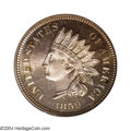 Proof Indian Cents: , 1859 1C PR66 Cameo PCGS. The 1859 Indian cent is a blue-...