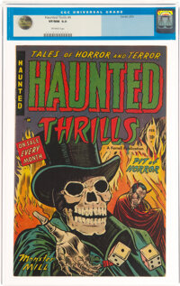 Haunted Thrills #6 (Farrell, 1953) CGC VF/NM 9.0 Off-white pages