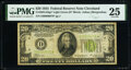 Low Serial Number 976 Fr. 2054-D* $20 1934 Light Green Seal Federal Reserve Star Note. PMG Very Fine 25