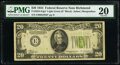 Fr. 2054-E* $20 1934 Light Green Seal Federal Reserve Star Note. PMG Very Fine 20