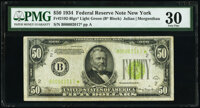 Fr. 2102-B* $50 1934 Light Green Seal Federal Reserve Note. PMG Very Fine 30