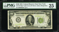 Fr. 2152-B* $100 1934 Light Green Seal Federal Reserve Star Note. PMG Very Fine 25