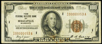 Low Serial Number 53 Fr. 1890-I $100 1929 Federal Reserve Bank Note. Fine-Very Fine