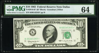 Fr. 2016-K* $10 1963 Federal Reserve Star Note. PMG Choice Uncirculated 64