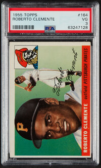1955 Topps Roberto Clemente Rookie #164 PSA VG 3
